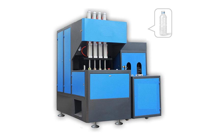 4 Cavity Semi-Auto PET Blow Moulding Machine - Acuapuro Water