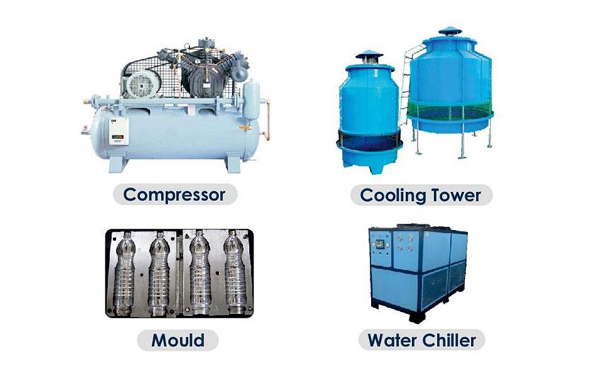 4 Cavity Semi-Auto PET Blow Moulding Machine Parts - Acuapuro Water
