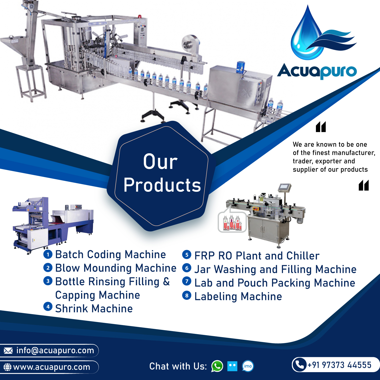 Mineral Water Plant Manufaturers in Ahmedabad, India - Acuapuro Water